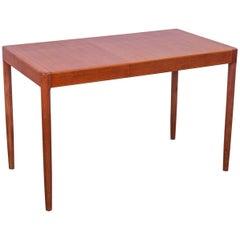 Small Danish Modern Teak Table with Leaf