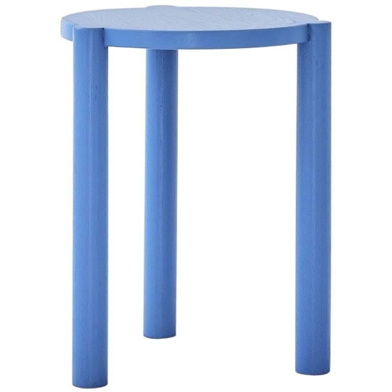 WC3 Stool by ASH NYC in Blue For Sale