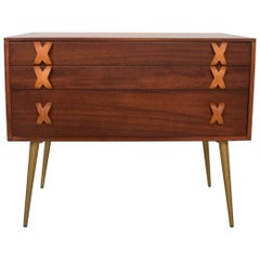 Rare Early Mid-Century Modern Widdicomb Chest of Drawers Cork Top