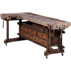 Classic Early Pine Work Table
