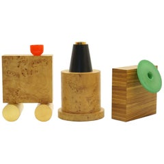 Ettore Sottsass Vases from 27 Woods for a Chinese Artificial Flower