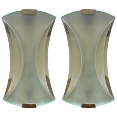 Pair of Italian Sconces by Max Ingrand for Fontana Arte