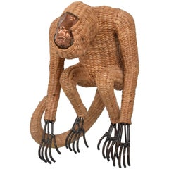 Mario Lopez Torres Wicker Monkey Sculpture