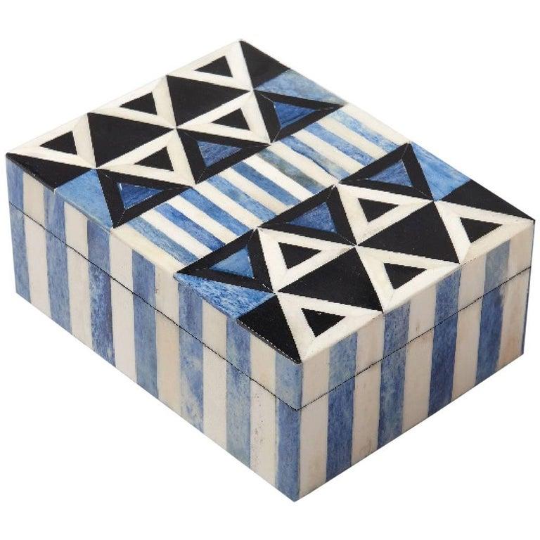 Okapi Bone Inlay Decorative Box For Sale