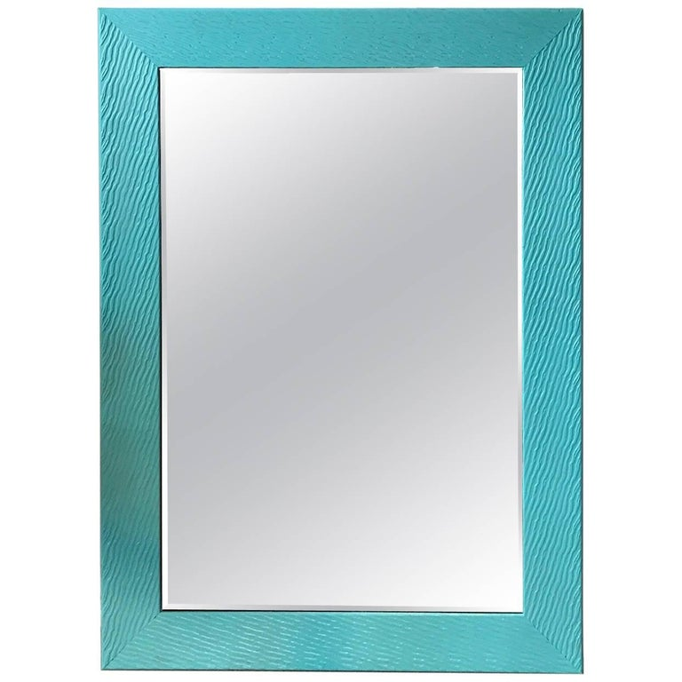 """ON SALE NOW! """"Tiffany Blue"""" Horizontal or Vertical Contemporary Mirror"""