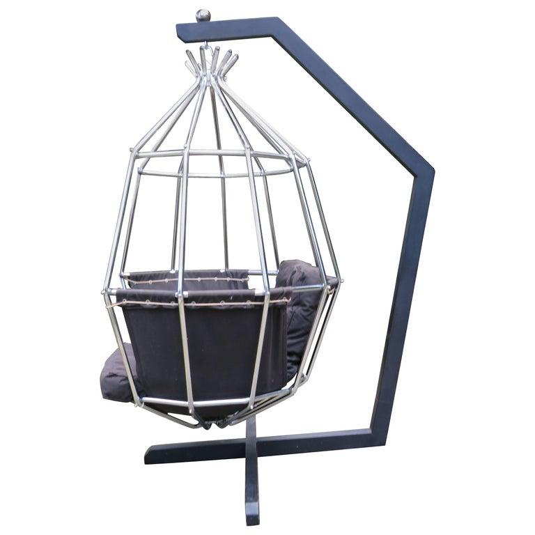 Fabulous Ib Arberg Hanging Parrot Mid-Century Modern Birdcage Chair