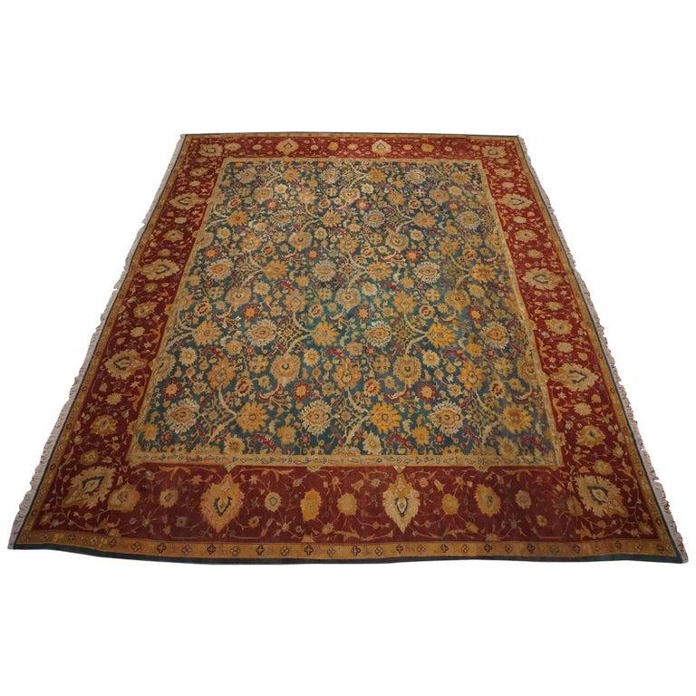 Deep Burgundy Indian Agra Rug For Sale At 1stdibs: Antique Indian Agra Rug, Circa 1890 For Sale At 1stdibs