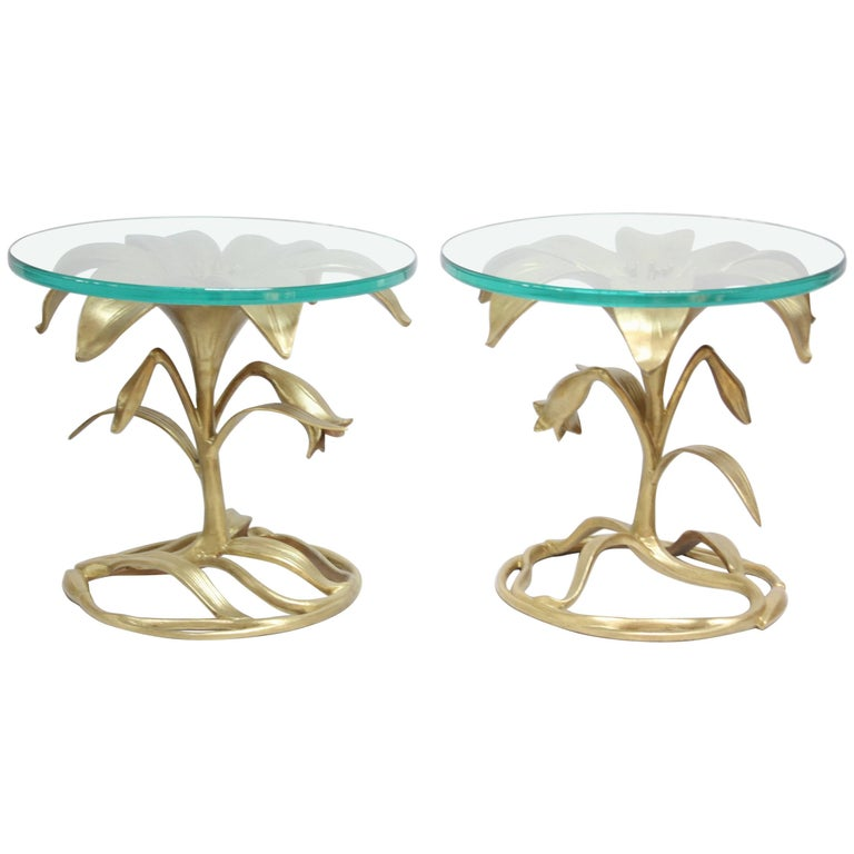 Pair of Arthur Court 'Lily' Side Tables