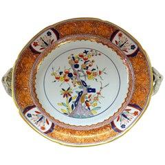 Rare and Fine Antique English Spode Ironstone Kakiemon Decor Warming Dish