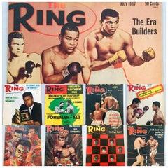 Muhammad Ali, a Lot of Ten Vintage Ring Magazines