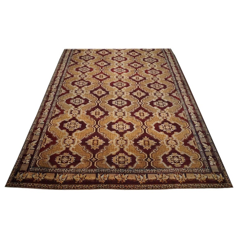 Antique Cotton Agra Rug With Abrash Circa 1900 For Sale: Antique Indian Agra Rug, Circa 1880 For Sale At 1stdibs