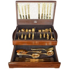 Set of Gold Plated Flatwear
