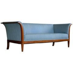 Frits Henningsen Classic Sofa in Cuban Mahogany Denmark, 1940s