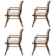 T.H. Robsjohn-Gibbings Set of Four Armchairs