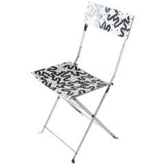 Atalia Folding Chair Alessandro Mendini Bruno Gregori Nuova Alchimia Zabro