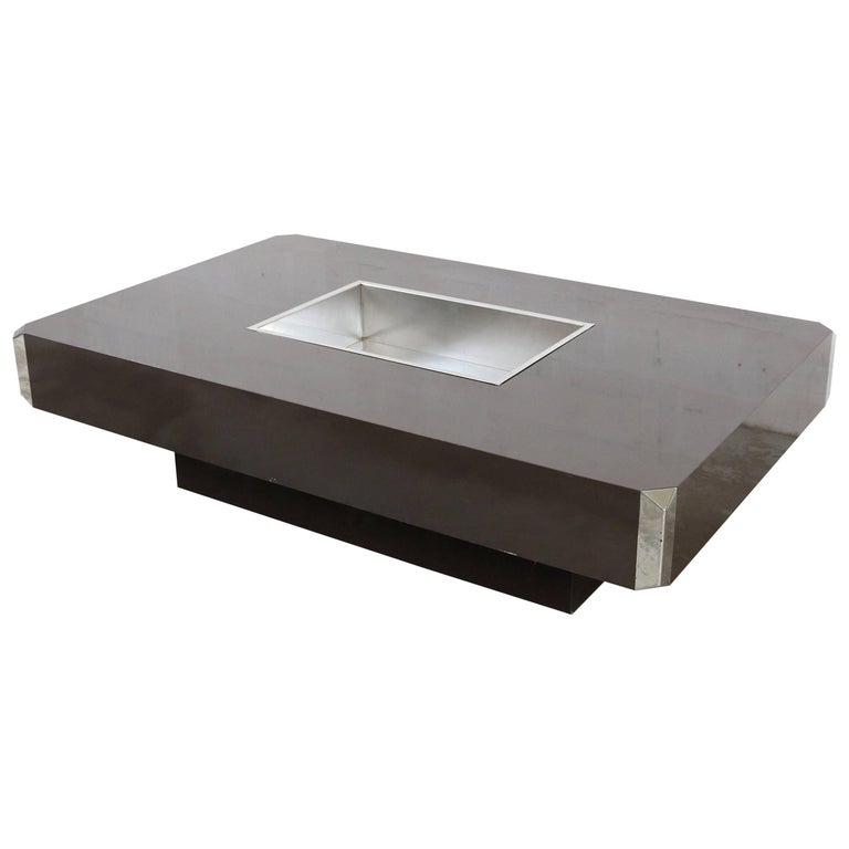 Willy rizzo alveo coffee table for sale at 1stdibs for Coffee tables 80cm wide