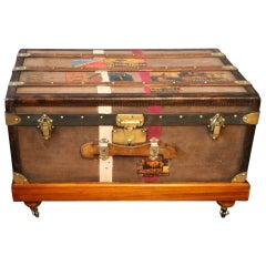 1920s Brown Moynat Steamer Trunk