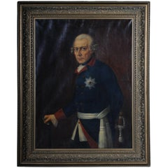 19th Century Oil Painting Friedrich the Great, Prussia Sign, Anton Kaulbach