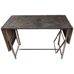French Industrial Metal Table