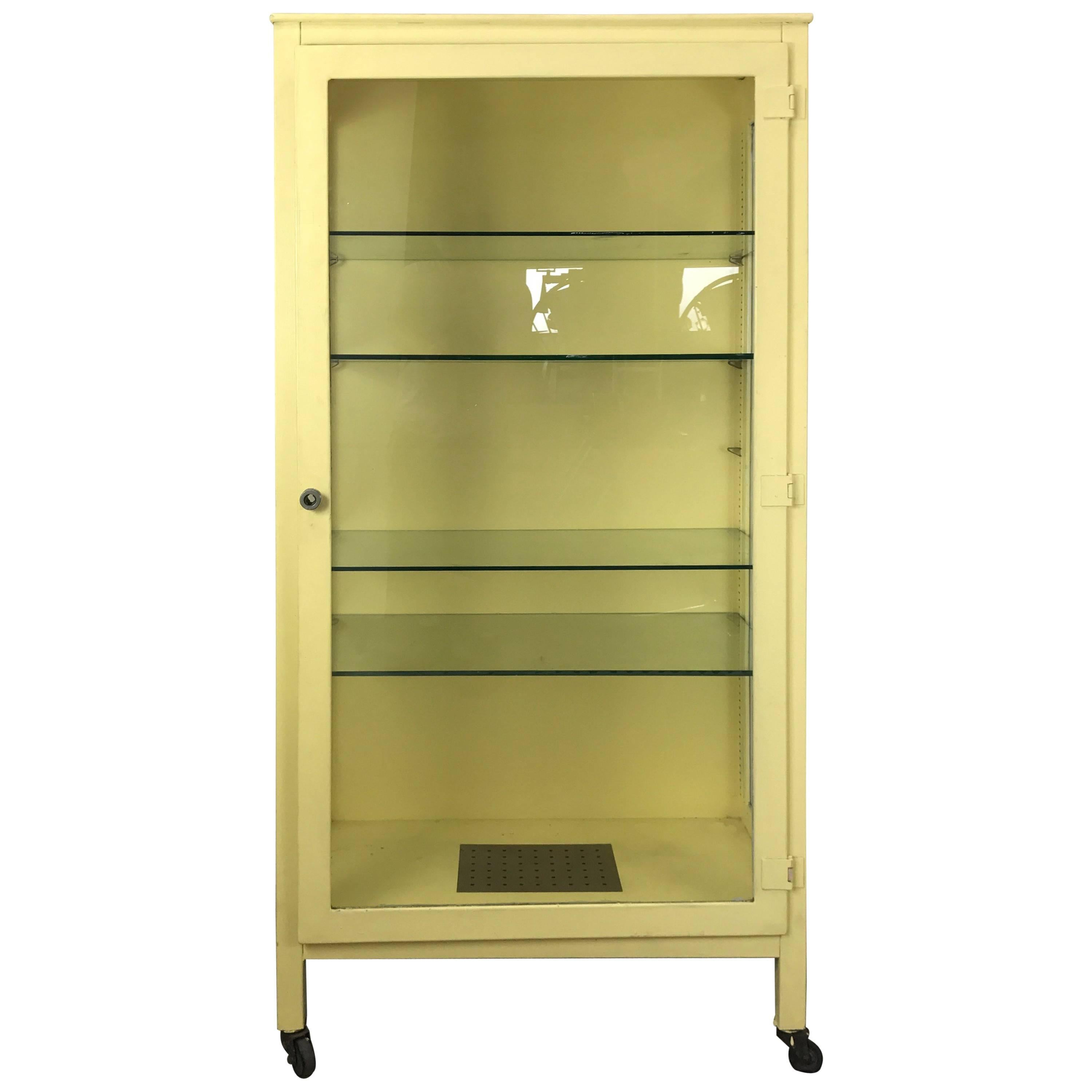 Classic Industrial Metal And Glass Cabinet For Sale Glass Cabinet For Sale N32