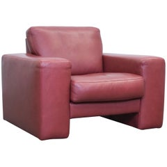 Koinor Designer Leather Armchair Red One seat Couch Modern