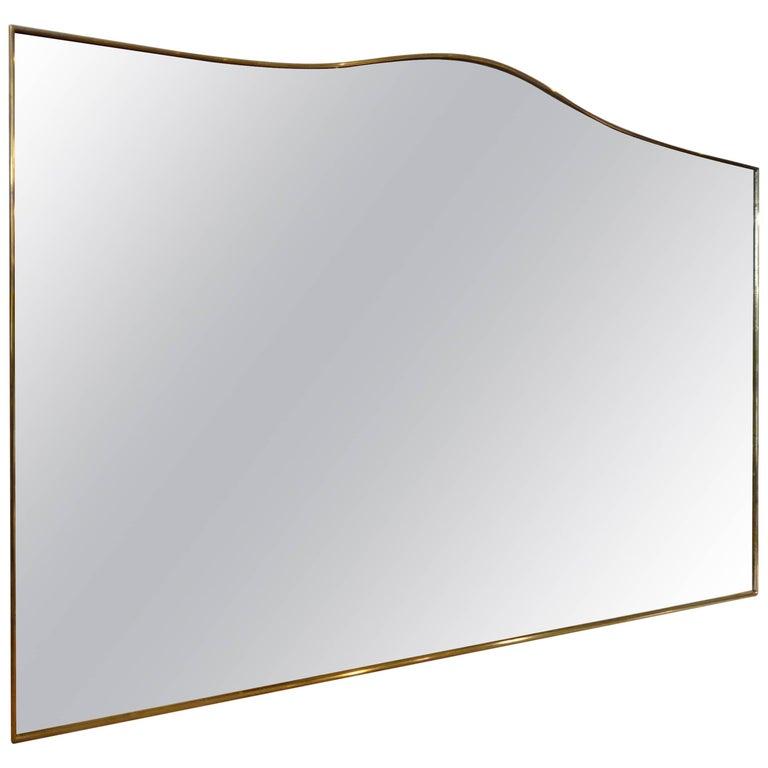 Mid-20th Century Italian Brass Mirror