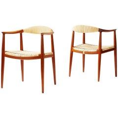 "Hans Wegner JH-501 ""The Chair"" Pair, 1949"