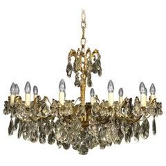 Italian Gilded Twelve-Light Antique Chandelier