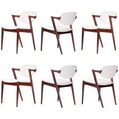 Kai Kristiansen Model 42 Dining Chairs, 1956