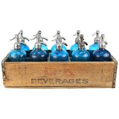 Set of Ten Vintage Seltzer Bottles