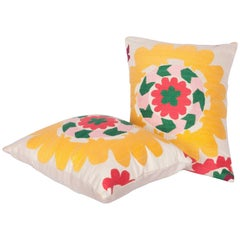 Pillow Cases Fashioned Out of a Vintage Tajik Suzani