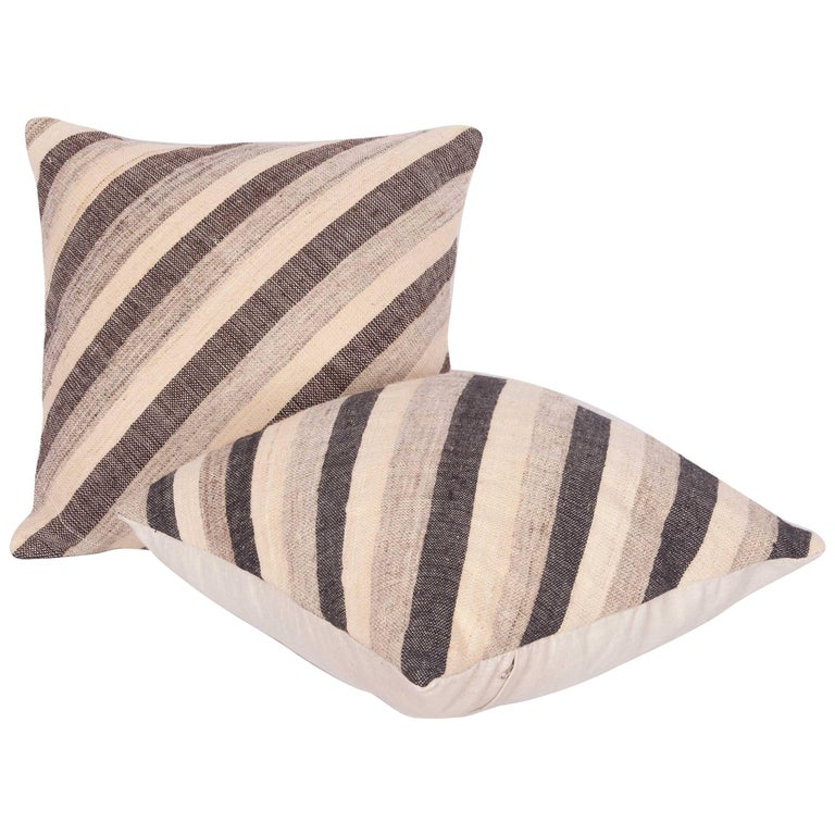 Pillows Made Out of an Anatolian Turkish Mid-20th Century Kilim For Sale