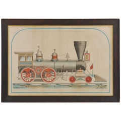 "Rare and Important Large-Scale Drawing of the ""Onward, Locomotive Engine"""