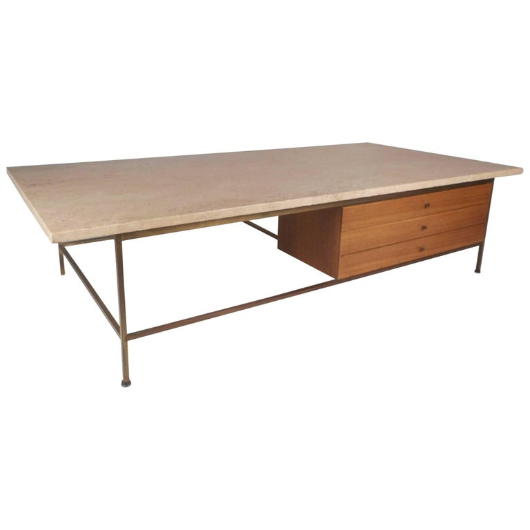 Mid Century Modern Paul Mccobb Marble Top Coffee Table For Sale At 1stdibs