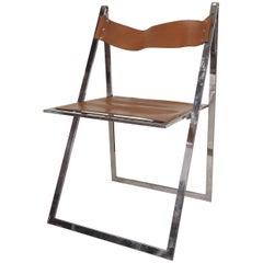 Lübke Chrome Folding Chair