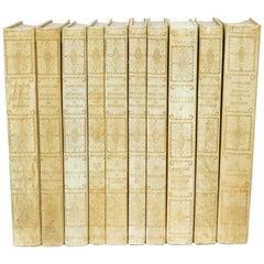 Set of Ten Swedish Leather Bound Books