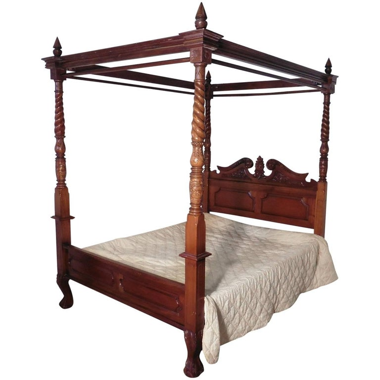 Large Mahogany Four Poster Bed For Sale At 1stdibs