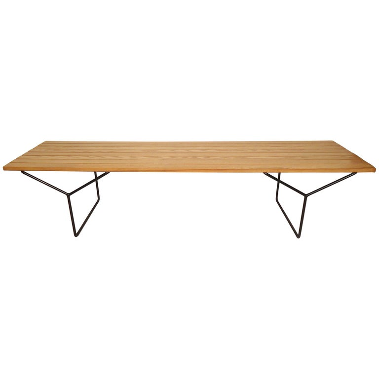 Harry bertoia for knoll slat bench for sale at 1stdibs - Bertoia coffee table ...