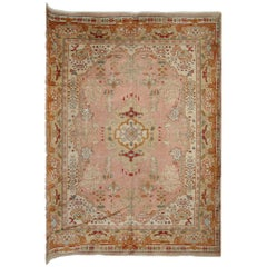Antique Turkish Ushak Carpet Oushak Rug