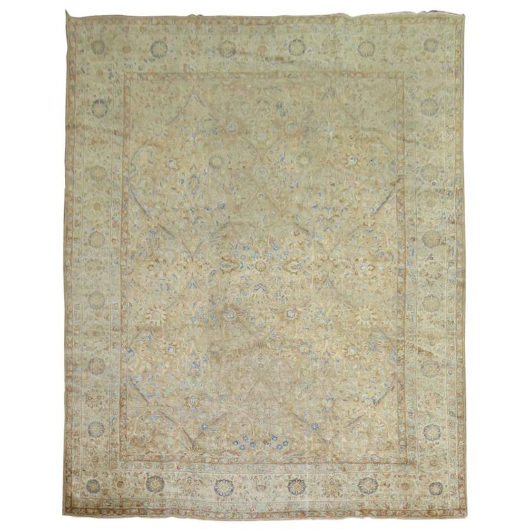 Antique Persian Kirman Shabby Chic Rug