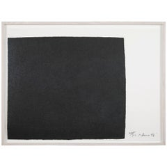 "Richard Serra work on paper ""Leo"", from ""Leo Castelli 90th Birthday Portfolio"""