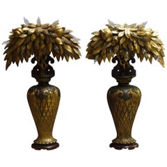 Pair of Tony Duquette Style Lamps, circa 1920