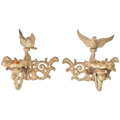 Pair of Cast Iron Candle Sconces