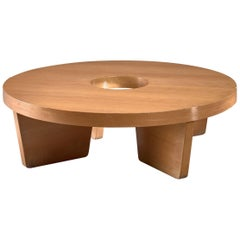 Harvey Probber Nuclear Coffee Table in Blonde Mahogany
