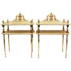 Pair of Mid-Century Italian Alabaster Tables
