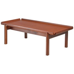 John Kapel Wooden Coffee Table with Curved Edges
