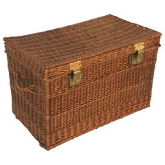Large French Willow Basket Hamper