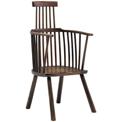 Elm and Ashwood Comb-Back Armchair, circa 1760