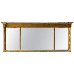English Three-Panel Overmantel Mirror
