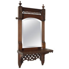 Filigree Mirror with Shelf, circa 1910
